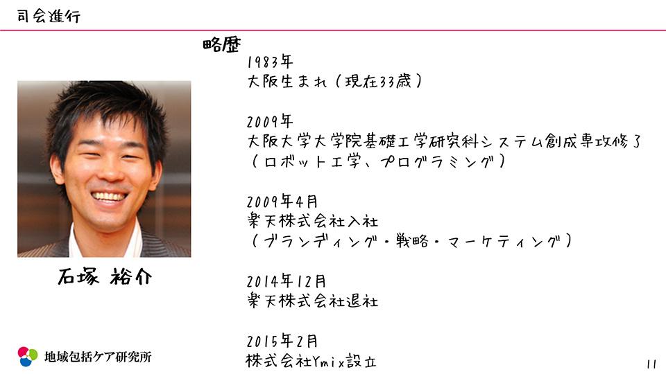 町おこし・移住資料 地域包括ケア研究所司会 Ymix 石塚裕介